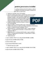 Operatii pentru procesarea textului