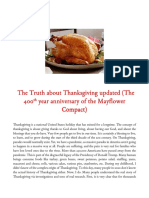The Truth about Thanksgiving updated (The 400th year anniversary of the Mayflower Compact)