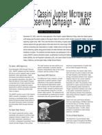 GAVRT-Cassini jupiter Microwave Observing Campaign-JMOC Fact Sheet
