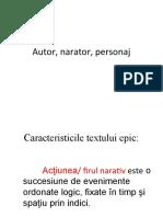 Autor, narator, personaj