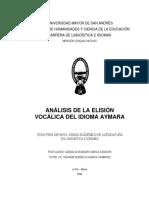 elision vocalica