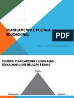 Planejamento e Política Educacional