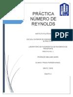 Practica Numero de Reynolds