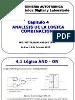 ANALISIS DE LA LOGICA COMBINACIONAL