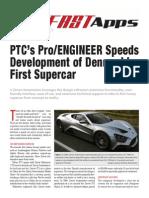 PTC's Pro/Engineer Speeds Development of Denmark's First Supercar
