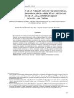 Caracterizacion de pobreza oculta en PYME -LOCALIDAD USAQUEN