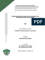 Implementacion de servicios de tecnologia de la informacion para capacitacion