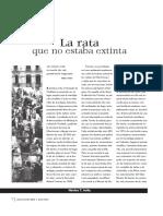La Rata Que No Estaba Extinta, UNAM.