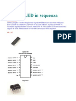 10 LED in sequenza