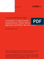 4-1. Innovation in Government Organizations, Pubilc Sector Agencies and Public Service NGOs (Dunleavy et al)