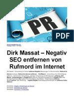 Dirk Massat – Negativ SEO entfernen von Rufmord im Internet