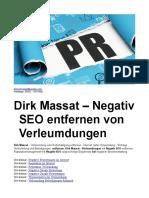 Dirk Massat – Negativ SEO Entfernen Von Verleumdungen
