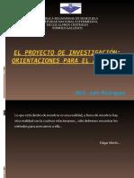 1. PRESENTACIÒN DEL PROYECTO DE INVESTIGACIÒN proyecto II 2020