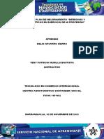 """Evidencia 4 Plan de mejoramiento """"Derechos y principios éticos en ejercicio de mi profesión"""