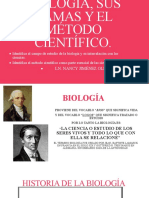 BIOLOGÍA, SUS RAMAS Y EL MÉTODO CIENTÍFICO