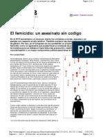 El femicidio un asesinato sin codigo-LAS 12-11-2-2011