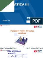 Sesion 1 Funciones de Varias Variables