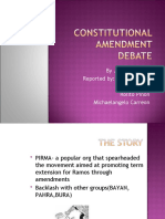 Constitutional Amendment Debate