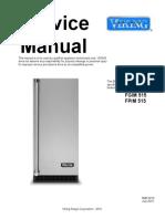 Manal de Servicio  Fabricador de hielo Vinking FPIM515