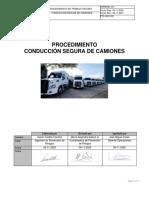 PTS-SSO-001. Procedimiento de conducción segura de camiones V° 5