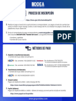 Inscripción y Método de pago GRUPO IDDEA