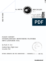 Flight Report - Interplanetary Monitoring Platform IMP-II (Explorer XXI)