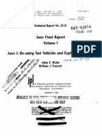 Juno Final Report Volume I Juno I Re-Entry Test Vehicles and Explorer Satellites