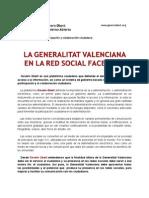 La Generalitat Valenciana en la Red Social Facebook