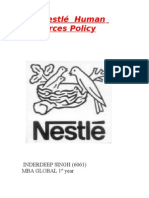 The Nestlé  Human Resources Policy
