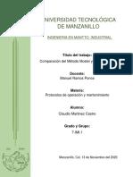 Comparacion del Metodo Mosler y Método Mixto