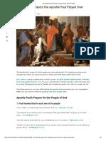 4 10 Apostle Paul's Prayers Prayed Over God's People