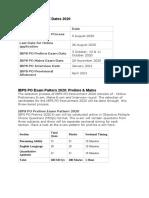IBPS PO Important Dates 2020.docx