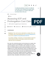 Assessing EOT and Prolongation Cost Claims