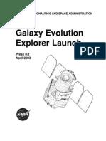 Galaxy Evolution Explorer Launch Press Kit
