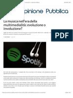 La musica nell'era della multimedialità