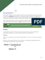Como fazer média, mediana e desvio padrão no Excel
