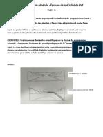 Bac - Épreuve de spécialité Sciences de la Vie et de la Terre (SVT) - sujet et corrigé n°1
