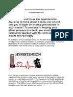 Hipertensi dan Apa Yang harus diketahui