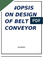PROJECT REPORT  ON DESIGN  OF BELT CONVEYOR