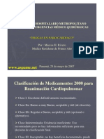drogas de paro cardiorespiratorio PCR