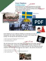 Greta Thunberg und die Umwelt (A1/A2)
