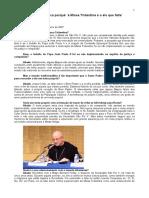 Um abade explica porquê ´a Missa Tridentina é o elo que falta`