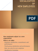 Socialisation of new employees