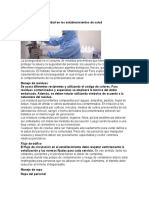 Medidas de bioseguridad en los establecimientos de salud