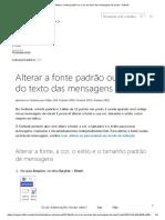 Alterar a fonte padrão ou a cor do texto das mensagens de email - Outlook