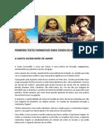 PRIMEIRO TEXTO FORMATIVO PARA TODOS OS MEMBROS