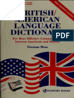 BRITISH-AMERICAN LANGUAGE DICTIONARY - For More Effective Communication between Americans and Britons