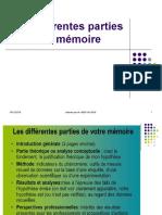 Différentes Parties Dun Mémoire
