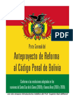 Anteproyecto de Código Penal de Bolivia (Parte General)
