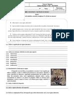 5ºAno- CN - Ficha de consolidação-  Alimentação e Reprodução nos animais